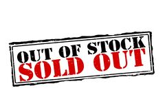 Sold out. Rubber stamps with text sold out inside,  illustration Stock Image