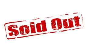 Sold out. Rubber stamps with text sold out inside,  illustration Royalty Free Stock Images