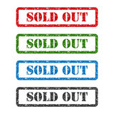 Sold out set rubber stamp isolated on background Stock Photo
