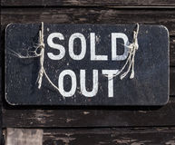 Sold Out Sign Royalty Free Stock Photos