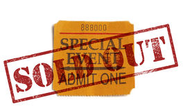 Sold Out special event Stock Photo