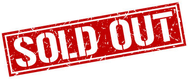 Sold out square stamp Royalty Free Stock Photo