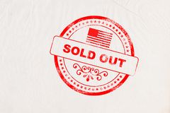 Sold Out Stamp stock photo
