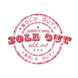 Sold out stamp Stock Image