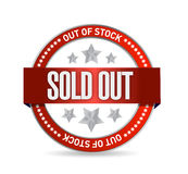 Sold Out Stamp seal illustration design Stock Photos