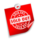 Sold out sticker Royalty Free Stock Photos