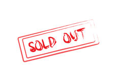 Sold out Royalty Free Stock Photography