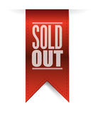 Sold out textured banner illustration design Stock Images