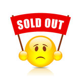 Sold out vector sign royalty free illustration