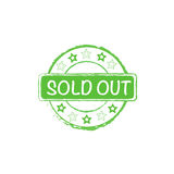 Sold out vector stamp Royalty Free Stock Photo