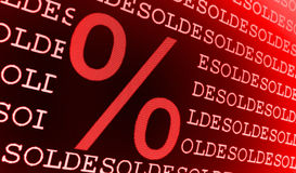 Sold percentage sign Royalty Free Stock Photos