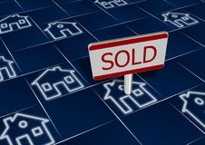 Sold real estate Royalty Free Stock Image