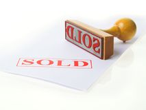 SOLD Rubber stamp Royalty Free Stock Photography