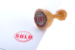 Sold rubber stamp Royalty Free Stock Photo