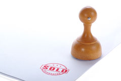Sold rubber stamp Stock Images
