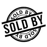 Sold By rubber stamp Royalty Free Stock Photo