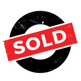 Sold rubber stamp Stock Photography