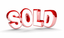 Sold Sale Final Closed Deal Buy Success Royalty Free Stock Photos