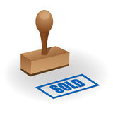 Sold seal Royalty Free Stock Photos