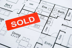 Sold sign Stock Photos