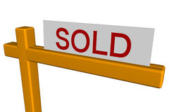 Sold Sign Stock Images