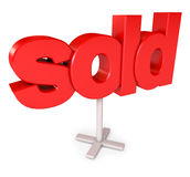 Sold sign Royalty Free Stock Image