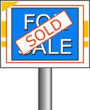 Sold Sign royalty free illustration