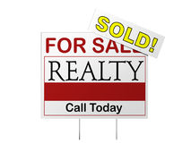 Sold Sign Stock Image