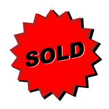 Sold Sign. Red sold sign - web button - internet design vector illustration