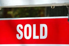 Sold sign Stock Photography