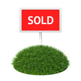Sold sign with grass Royalty Free Stock Photography