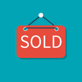 Sold sign. vector Stock Images