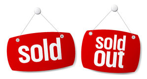 Sold signs Stock Images