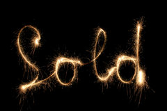 SOLD sparkler Royalty Free Stock Photos