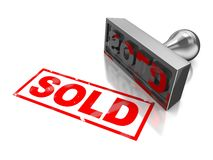 Sold stamp Royalty Free Stock Photography