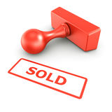 Sold stamp Stock Photography