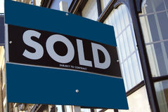 Sold subject to contract sign. Royalty Free Stock Image