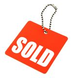 Sold tag Royalty Free Stock Photos