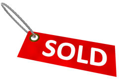Sold Tag Royalty Free Stock Photo