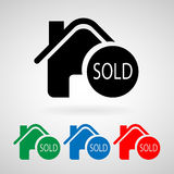 Sold vector home image to be used in web app, mobile app and print media, EPS10. Great for any use Stock Images