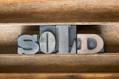 Sold wooden tray Royalty Free Stock Photos