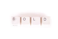 Sold word written with computer buttons Royalty Free Stock Image