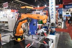 Solda dos robôs Imagens de Stock