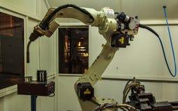 Solda dos robôs Fotos de Stock