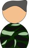 soldado Imágenes de archivo libres de regalías