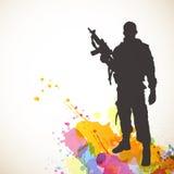 Soldado abstrato Imagens de Stock