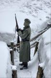 Soldado alemán de WW2.Winter Fotos de archivo