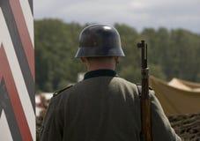 Soldado alemán de WWII Imágenes de archivo libres de regalías