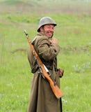 Soldado alemán (uniforme) de WW2 Fotos de archivo libres de regalías
