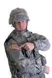 Soldado americano del combate imágenes de archivo libres de regalías